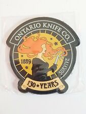 Ontario Knife Co Survive 130 Years PVC Patch NEW Military