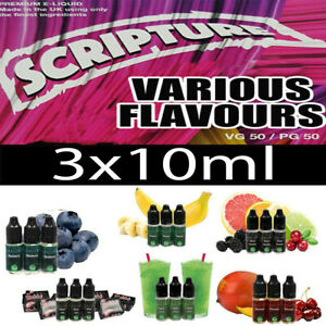 Scripture E Liquid 3x10ml 50vg 50pg Premium Juice All Day Vape