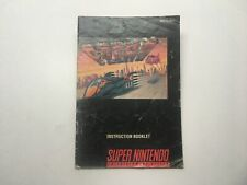 F-ZERO - SNES MANUAL ONLY (NO GAME)