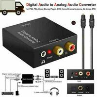 Optical Coaxial Digital to Analog Audio Converter Adapter NEW Black H6L0 E9T5
