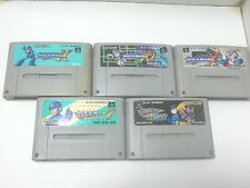 Super Famicom Rockman 7 X X2 X3 FORTE 5 ROMS SET Japan Used MEGAMAN