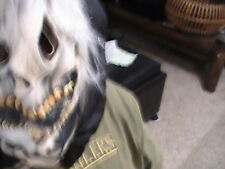 Rare Halloween Prop Costume Accessory White Ghoul Scary Monster Mask Hair