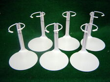Doll Stands Six (6) Light Gray Painted Metal for Dolls 3-5 inches stock no. 1001