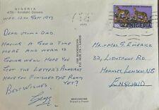 More details for original postcard sent from nigeria 1973 by geoff emerick paul mccartney beatles