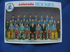 1978/79 Topps Colorado Rockies checklist card #196 Hockey NHL $1 S&H