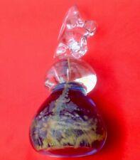 VINTAGE MEDINA GLASS HORSES HEAD 'CHESS KNIGHT' STYLE LARGE & HEAVY 15cm TALL