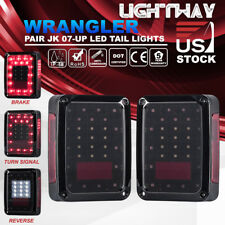 2x Jeep Wrangler JK 2007-17 LED Tail Light Rear Reverse Brake Turn Signal Light