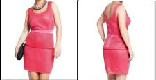 RRP £62 COLEEN ROONEY MESH PEPLUM STYLE DRESS in cerice pink size 12