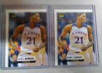 2 - 2014 JOEL EMBIID FIRST EVER ROOKIE CARDS PHILADELPHIA 76ERS 2000 MADE🔥🔥🔥!