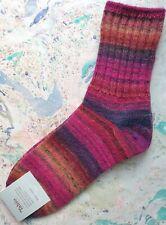 Tabio Japan Womens Socks Wool Multicolor Yarn Rib Low Crew Red UK 4-6 EU 37-39.5