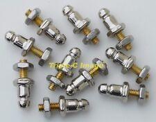 "Convertible top ""LIFT THE DOT"" studs (10) machine screw MG Midget, MGB TR6 etc"