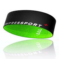 Compressport Unisex Free Belt - Black Green Sports Running Lightweight Pockets