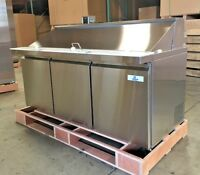 "NEW 72"" Commercial Mega Top Refrigerator Model SCLM3 Sandwich Salad Buffet NSF"