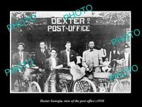 OLD LARGE HISTORIC PHOTO OF DEXTER GEORGIA, VIEW OF THE POST OFFICE c1930