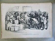 Vintage Print,DEATH BED MARRIAGE, Nast, July 27,1872