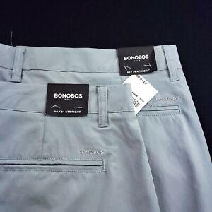 BONOBOS GOLF Highland 40 X 34 Performance Polyester Pants Straight $118