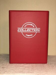 Toploader Binder with 30 Pages by The Sportstech Co RED