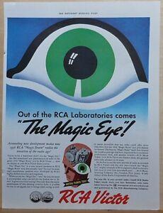 1935 magazine ad for RCA Victor Radios - The Magic Eye! in the Magic Brain
