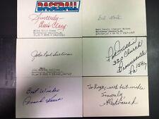Washington Senators Lot of 14 Vintage Signed Index Cards 1920s-1960s;BuddyLewis,