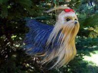 Plush Yorkshire Yorkie Terrier Tabletop Figurine Ornament