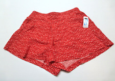 Old Navy Dressy Rayon Shorts Womens Size Medium Red Design New With Tags