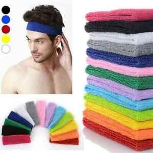 20PCS Sweatband Hairband Sports Unisex Sweat Headband Head Band Yoga Gym Stretch