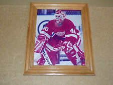 BILL RANFORD, DETROIT RED WINGS, NHL HOCKEY GOALIE, 8 X 11 PHOTO WITH FRAME