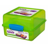Sistema KLIP IT Lunch Box Cube 1.4 L Travel Fresh Food Container - Assorted Cols