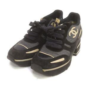 Chanel Sneakers   Women  Black Suede 1519347