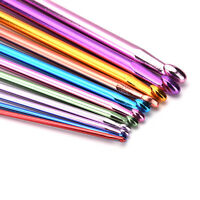 "11X 10.6"" multicolour Aluminum TUNISIAN / AFGHAN Crochet Hooks Needles 2- 8mm HT"