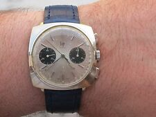 RARE LIP GENEVE CHRONOGRAPH MANUAL CAL.VALJOUX 7730 GOLD PLATED MENS 36.5x36.5mm