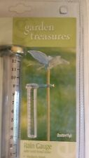New Garden Treasures Butterfly Rain Gauge with Solid Brass Stake Free Shipping