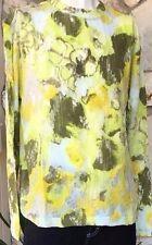 Long Sleeve Green Casual Printed T-Shirt - XL & XXL