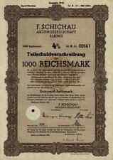 F. Schichau Elbing Elblag 1943 Bremerhaven Danzig Weser Werft 1000 RM - Lit. A
