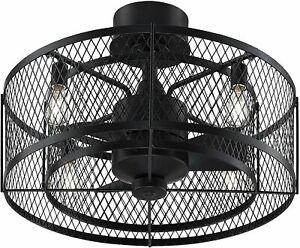 Fanimation Vintere Aged Bronze 20-in LED Ceiling Fan (3-Blade) Outdoor Damp