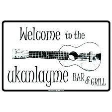 Welcome To The Ukanlayme Bar & Grill Metal Bar Pub Man Cave Sign Wall Art 12x18