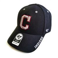 '47 Brand MLB Cleveland Indians MVP Defrost Black Strapback Adjustable Hat Cap