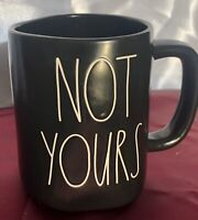 Rae Dunn Black Matte NOT YOURS MUG LL Coffee Tea CUP Large Letters by MAGENTA