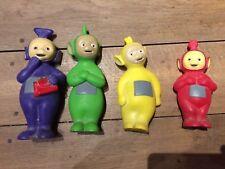 lot de 4 figurines Télétubbies plastique dure  - tres bon etat  ancien vintage