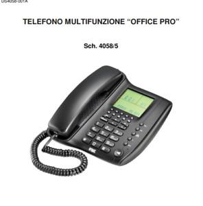 URMET 4058/5 TELEFONO MULTIFUNZIONE OFFICE PRO