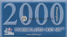 2000 US Mint 20-Coin Set Uncirculated w/ State Quarters (Mints: D&P)-SHIPS FREE!