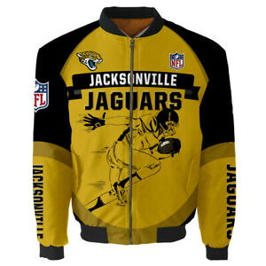 Jacksonville Jaguars Fans Jacket MA1 Flight Bomber Thicken Coat Men's Outwear