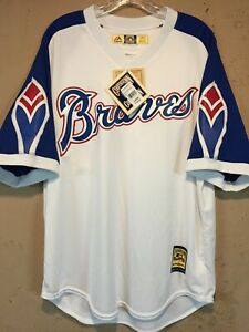 Atlanta Braves Hank Aaron Cooperstown Collection MLB Jersey in size Large NWT