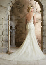 Morilee 2778 Bridal Wedding Dress Crystal Beaded Embroidery Fit and Flare Ivory