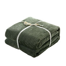 Sofa Bed Throw Flannel Blanket Bedspread Soft Sheet for Baby 70x100cm -Green