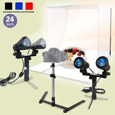 "24"" Photography Light Tent Backdrop Kit Cube Photo Studio Lighting Kit In A Box"