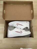 nike court tradition 2 Trainers, Size 5, Red and White