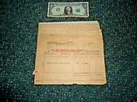 55 - 1940 to 1947 Ann Arbor RR Howell, MI Station Cashier's Bill of Ladings - NR