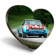 Heart MDF Coasters - Vintage Rally Car Sports  #12356