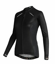 Funkier Odessa Ladies Summer Long Sleeve Jersey Rider Cut in Black Medium